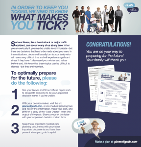 Plan Well Guide Promotional Poster